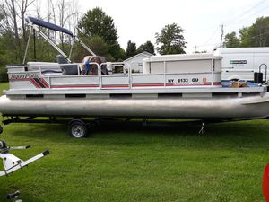 24ft pontoon boat for Sale in Derby, NY