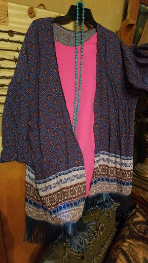 Cotton blue printed cover up Large for Sale in McAllen, TX