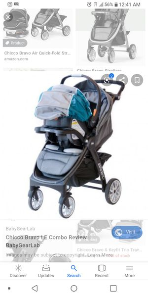 Chicco Bravo stroller and car seat for Sale in Santa Fe Springs, CA
