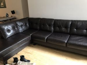 Large Leather Couch for Sale in PECK SLIP, NY