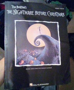 Disney Nightmare Before Christmas Piano And Vocal Book for Sale in Fresno, CA
