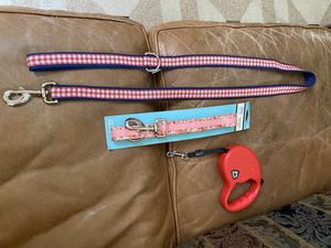 3 heavy duty animal leashes- 2 new ones- 1 pull/release kind $6 each for Sale in Fresno, CA