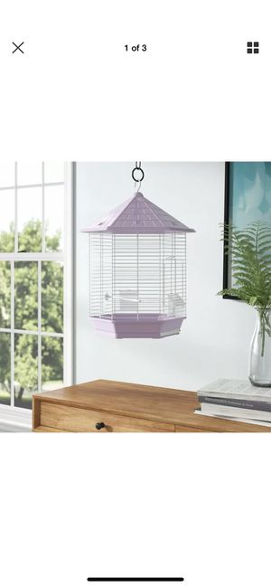 Small lavender bird cage for Sale in Oceanside, CA
