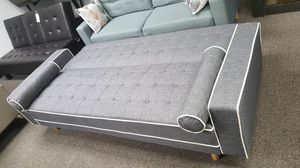 SPL Sofa Bed / Futon with Pillows, Gray | SKU 7767 for Sale in Santa Ana, CA