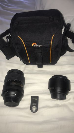 Nikon 18-300mm & 50mm lenses etc for Sale in San Ramon, CA