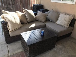 Costco patio outdoor sectional furniture sofa table for Sale in Covina, CA