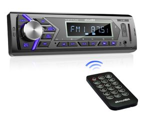 Brand New In Box Bluetooth Car Stereo Radio Receiver,Single Din Mechless Digital Media Receiver Support FM/AM/USB/SD/FLAC/MP3/Aux-in with 7 Color Bac for Sale in Hayward, CA