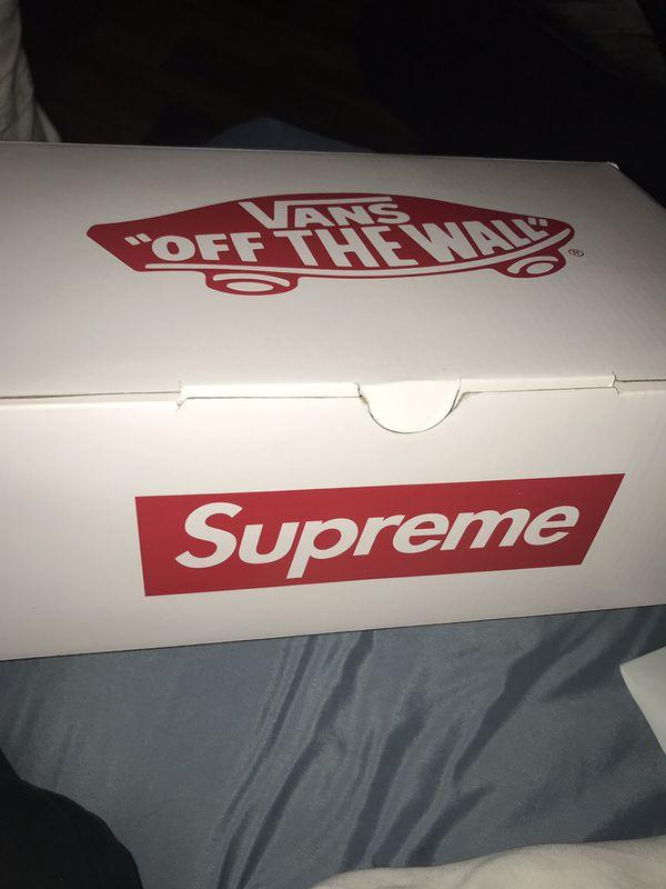 Supreme jean Paul vans size 9