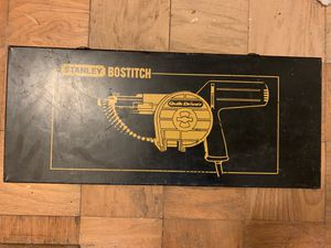 Heavy duty Stanley Bostitch nail gun with Nails for Sale in Springfield, VA