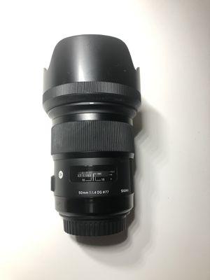 Sigma Art 50mm 1.4 for Sale in Riverside, CA