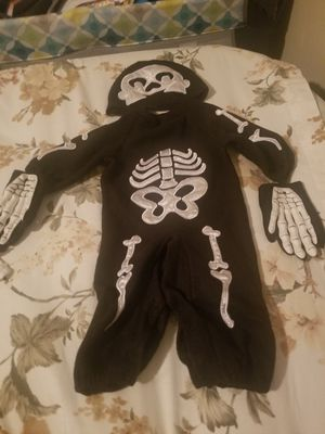Boy Baby Skeleton Costume 6- 9 months for Sale in Poinciana, FL