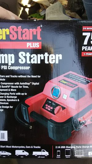 EverStart Jump starter with 120psi compressor for Sale in Prineville, OR