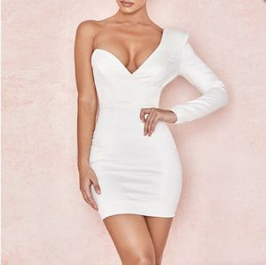 White One Shoulder Long Sleeve Bodycon Dress for Sale in Los Angeles, CA