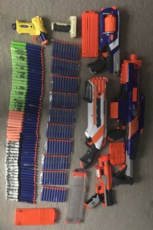5 Nerf Gun and Ammo for Sale in Irwindale, CA