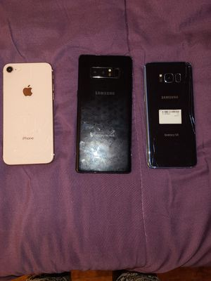 3 Cellphones! Galaxy S8-Note8 & iPhone 8!! for Sale in FAIRMOUNT HGT, MD