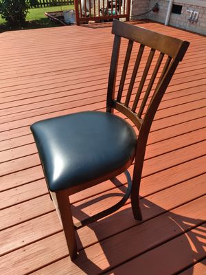 3 leather bar or countertop chairs for Sale in Virginia Beach, VA