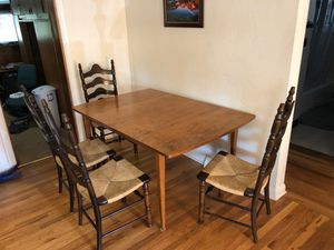 """Kitchen Table with 4 Chairs 60"""" rectangle for Sale in Denver, CO"""