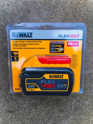 New DeWalt FLEXVOLT 9.0 Battery for Sale in Modesto, CA
