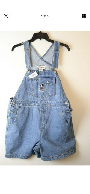 Vtg Disney Overall Dress Mickey Disneyland Patch NWT Size Large for Sale in Los Angeles, CA