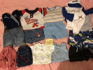 Boys 6-9 month summer outfits, swim trunks, and onesies for Sale in Baltimore, MD