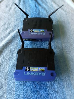 Two Linksys Wireless-G routers with speedbooster for Sale in Conway, SC