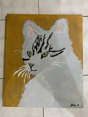 Acrylic cat painting for Sale in Oakland Park, FL