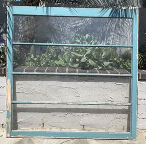 """Rare Vintage Wood Window Frames - 48""""x48"""". Glass or Not! Headboard??? Mantle??? Garden Shed??? for Sale in San Diego, CA"""