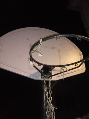 Basketball hoop with punching bag for Sale in Springfield, MA