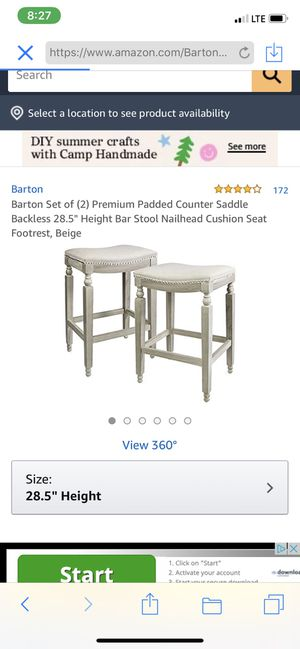 Counter saddle bar stool 29 inches for Sale in Azusa, CA