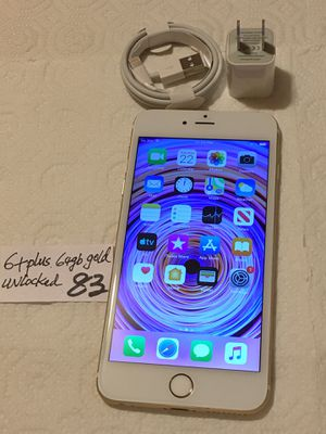 Apple iPhone 6+ Plus, 64 GB, Unlocked any carrier. Silver/White,Clean imei,Clean iCloud, Fully Functional.Mint Conditions. for Sale in Castro Valley, CA