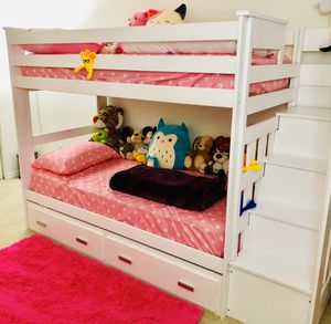 Bunk bed with storage - white for Sale in Tamarac, FL