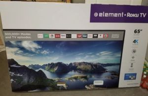 "65"" Element ROKU TV 4k UHD SMART TV for Sale in Grand Terrace, CA"