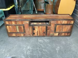 Low profile modern TV Console / Stand all wood for Sale in West Los Angeles, CA