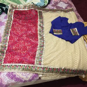 """Pakistani Indian Bengali saree blouse party wedding outfit dress blouse bust 40"""" length 16.7"""" for Sale in Silver Spring, MD"""