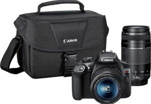 Canon Digital SLR Camera Kit [EOS Rebel T6] with EF-S 18-55mm and EF 75-300mm Zoom Lenses for Sale in Alpharetta, GA