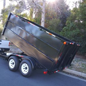 BRAND NEW DUMP TRAILER REMOTE 8x12x4 CONTROL INCLUDING,12000 LBS HEAVY DUTY, LIGHTS for Sale in Los Angeles, CA
