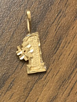 14k Gold #1 Charm Pendent for Sale in South San Francisco, CA