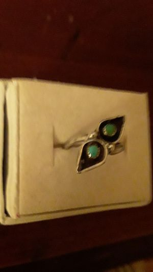 Indian sterling & tourquoise pinkie ring for Sale in Madison, VA