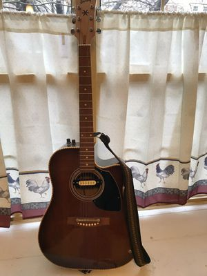 Ericsson electric guitar with belt for Sale in Silver Spring, MD