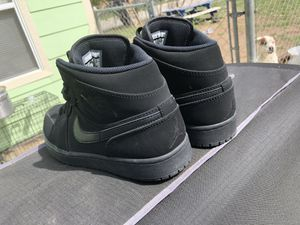 Size 10 Black suede Jordan 1 no insoles but original box for Sale in San Angelo, TX