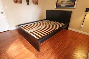 Lk NEW! Ikea QUEEN Bed Frame Bedframe (Mattress EXTRA $110) for Sale in Monterey Park, CA