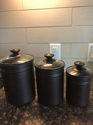 3 bronze storage containers/canisters set for Sale in San Francisco, CA