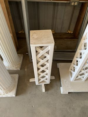 Plant stands white for Sale in Elk Grove, CA