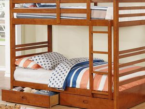 TWIN OVER TWIN BUNK BED WITH STORAGE FREE DELIVERY for Sale in Las Vegas, NV