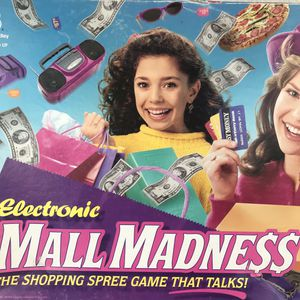 Mall Madness Electronic Board Game 1996 Vtg Shopping Spree Tested it Talks for Sale in Huntington Beach, CA