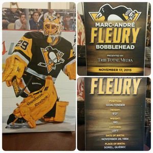***NEW***Marc-Andre Fleury Bobblehead for Sale in Pittsburgh, PA