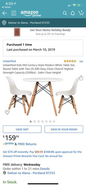 Brand new kids table & chairs modern for Sale in Portland, OR