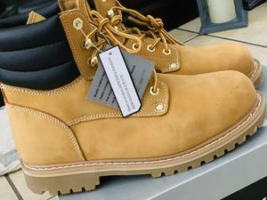 New men's work boots steel toe size 10 $$$50 price is firm for Sale in Fontana, CA