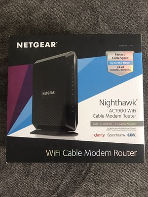 Netgear Nighthawk AC1900 WiFi Cable Modem/Router for Sale in Oceanside, CA