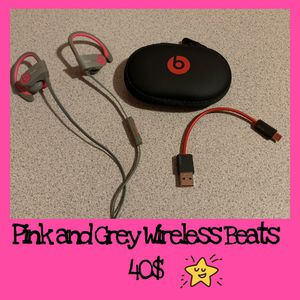 Pink and Grey Wireless Beats for Sale in Victorville, CA
